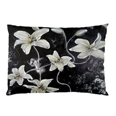Black and White Lilies Pillow Cases