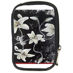 Black And White Lilies Compact Camera Cases