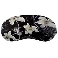 Black And White Lilies Sleeping Masks