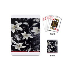 Black And White Lilies Playing Cards (mini)