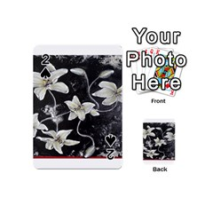 Black and White Lilies Playing Cards 54 (Mini)