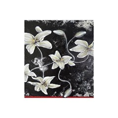Black and White Lilies Shower Curtain 48  x 72  (Small)