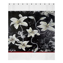 Black And White Lilies Shower Curtain 60  X 72  (medium)