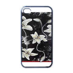 Black And White Lilies Apple Iphone 4 Case (black)