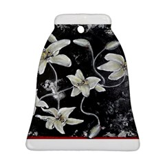 Black and White Lilies Bell Ornament (2 Sides)