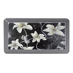 Black And White Lilies Memory Card Reader (mini)