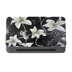 Black And White Lilies Memory Card Reader With Cf