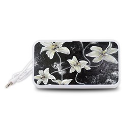 Black and White Lilies Portable Speaker (White)