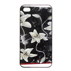 Black And White Lilies Apple Iphone 4/4s Seamless Case (black)