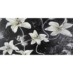 Black and White Lilies YOU ARE INVITED 3D Greeting Card (8x4)
