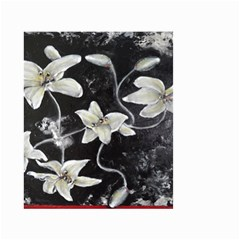 Black and White Lilies Small Garden Flag (Two Sides)