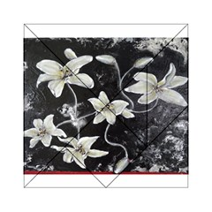 Black and White Lilies Acrylic Tangram Puzzle (6  x 6 )