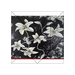 Black and White Lilies Acrylic Tangram Puzzle (4  x 4 )
