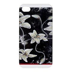 Black And White Lilies Apple Iphone 4/4s Premium Hardshell Case