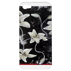 Black And White Lilies Apple Iphone 5 Hardshell Case