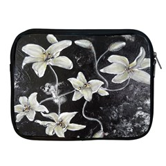 Black And White Lilies Apple Ipad 2/3/4 Zipper Cases