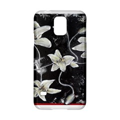 Black And White Lilies Samsung Galaxy S5 Hardshell Case