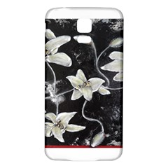 Black And White Lilies Samsung Galaxy S5 Back Case (white)