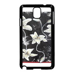 Black And White Lilies Samsung Galaxy Note 3 Neo Hardshell Case (black)