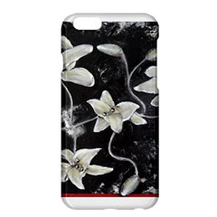 Black and White Lilies Apple iPhone 6 Plus Hardshell Case