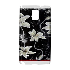 Black and White Lilies Samsung Galaxy Note 4 Hardshell Case