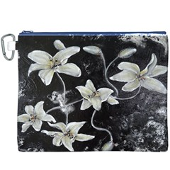 Black and White Lilies Canvas Cosmetic Bag (XXXL)