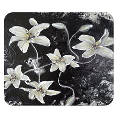 Black and White Lilies Double Sided Flano Blanket (Small)