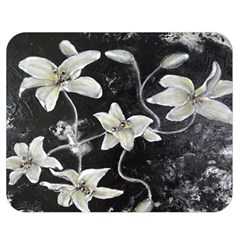 Black and White Lilies Double Sided Flano Blanket (Medium)