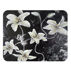Black and White Lilies Double Sided Flano Blanket (Large)