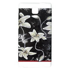Black and White Lilies Galaxy Note 4 Back Case