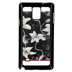 Black and White Lilies Samsung Galaxy Note 4 Case (Black)
