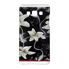 Black and White Lilies Samsung Galaxy A5 Hardshell Case