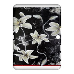 Black and White Lilies Samsung Galaxy Tab 4 (10.1 ) Hardshell Case