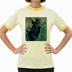 Blue Abstract Women s Fitted Ringer T-Shirts