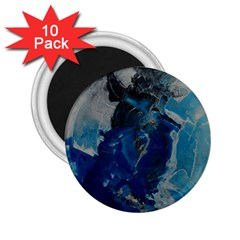 Blue Abstract 2 25  Magnets (10 Pack)