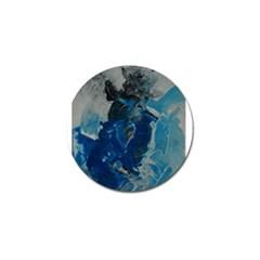Blue Abstract Golf Ball Marker