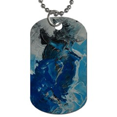 Blue Abstract Dog Tag (two Sides)