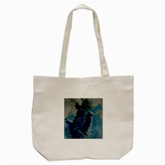 Blue Abstract Tote Bag (Cream)
