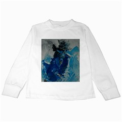 Blue Abstract Kids Long Sleeve T-Shirts
