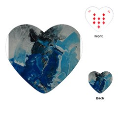 Blue Abstract Playing Cards (Heart)