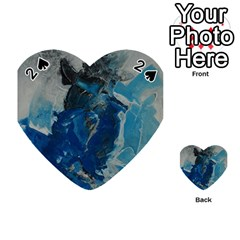 Blue Abstract Playing Cards 54 (Heart)