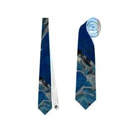 Blue Abstract Neckties (One Side)