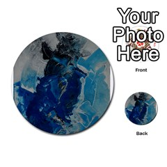 Blue Abstract Multi-purpose Cards (Round)