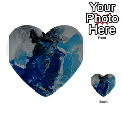 Blue Abstract Multi-purpose Cards (Heart)