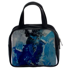Blue Abstract Classic Handbags (2 Sides)