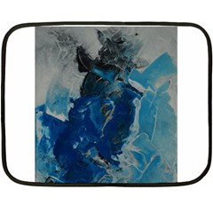 Blue Abstract Fleece Blanket (Mini)