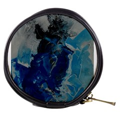 Blue Abstract Mini Makeup Bags