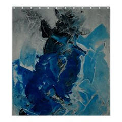 Blue Abstract Shower Curtain 66  X 72  (large)