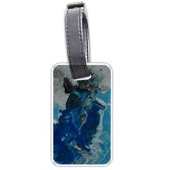 Blue Abstract Luggage Tags (one Side)