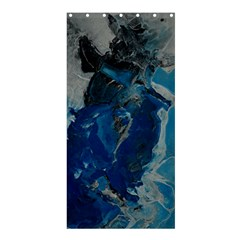 Blue Abstract Shower Curtain 36  x 72  (Stall)